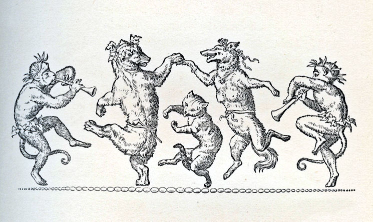 Medieval clipart dancing Animals Fanciful – Animals The