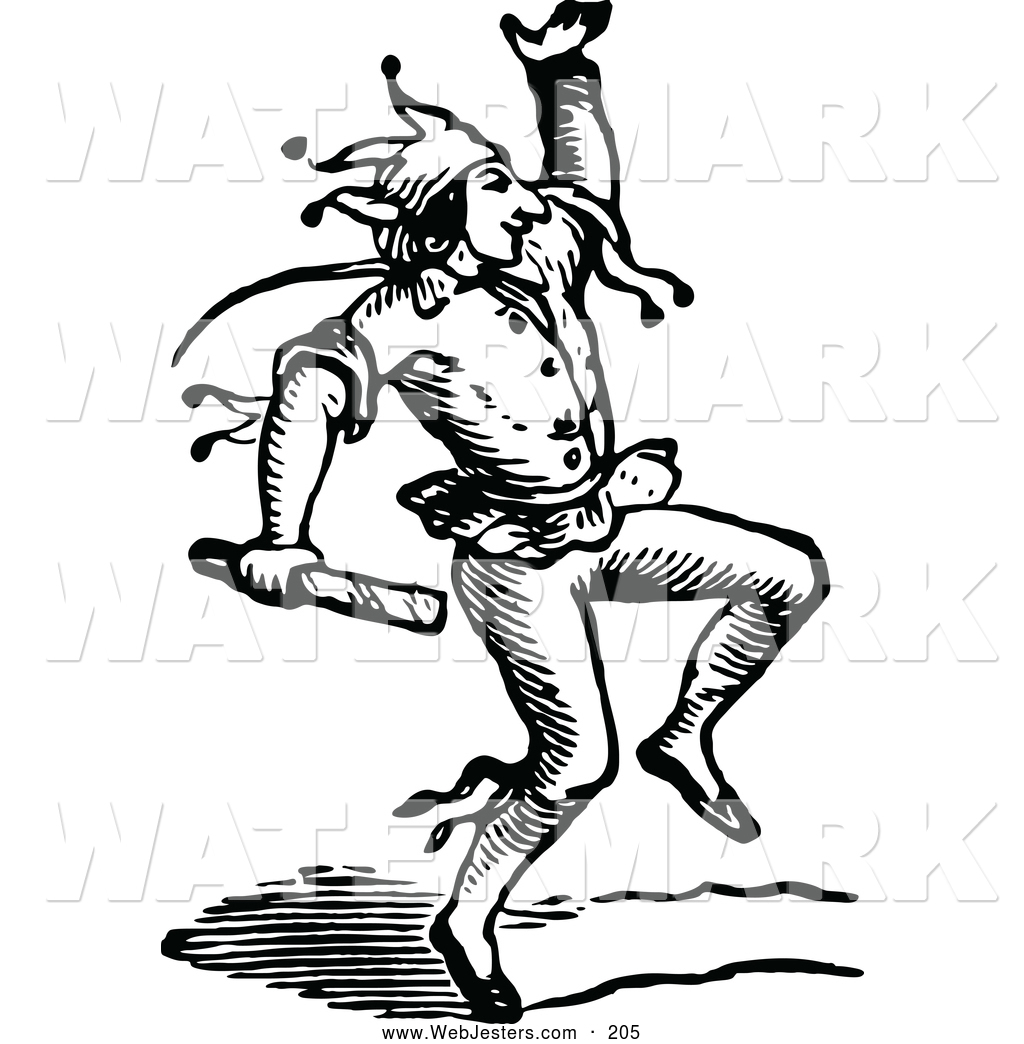 Medieval clipart dancing Cliparts Vintage Jester Clipart Jester