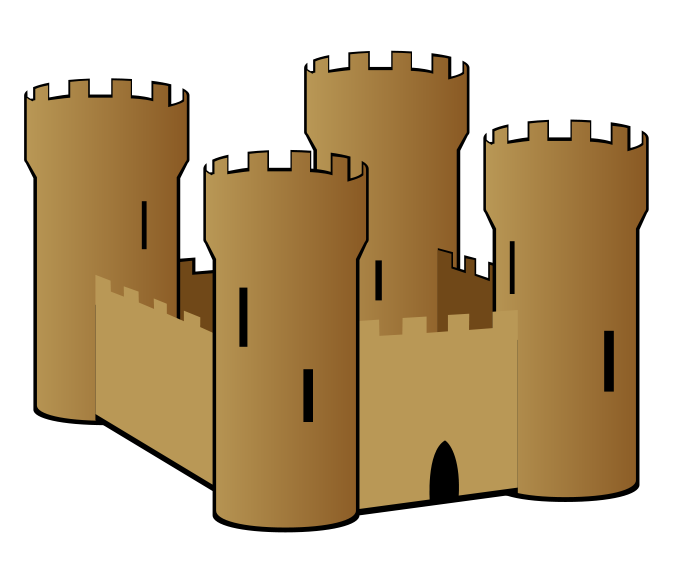 Brown clipart castle Clip coat art medieval medieval