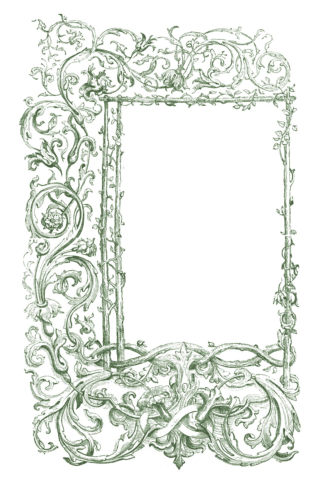 Thorns clipart antique frame Medieval of Archives 2 2