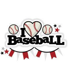 Baseball clipart cute Title scrapbook Baseball file and