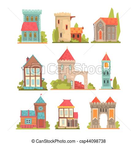 Towers clipart medieval europe Buildings Of And of Buildings