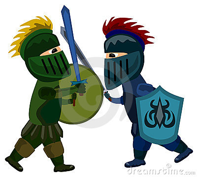 Medieval clipart knight battle Clipart Panda Fight Images Free