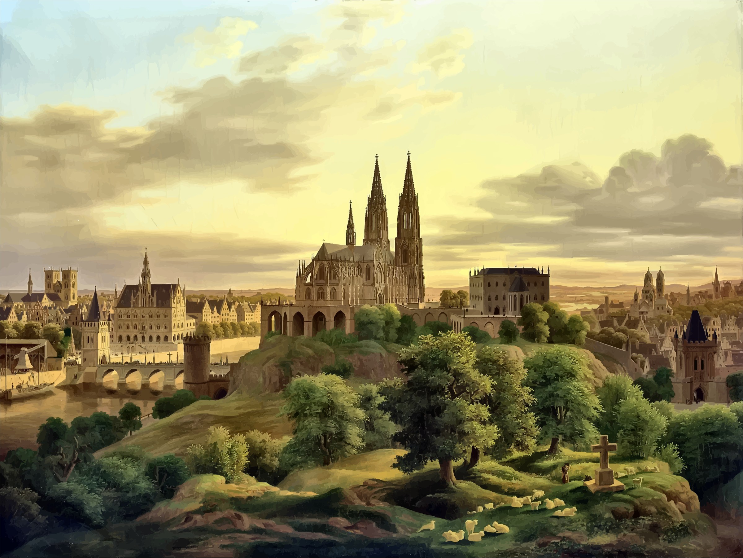 Medieval clipart medieval city #9
