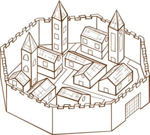 Medieval clipart medieval city #7