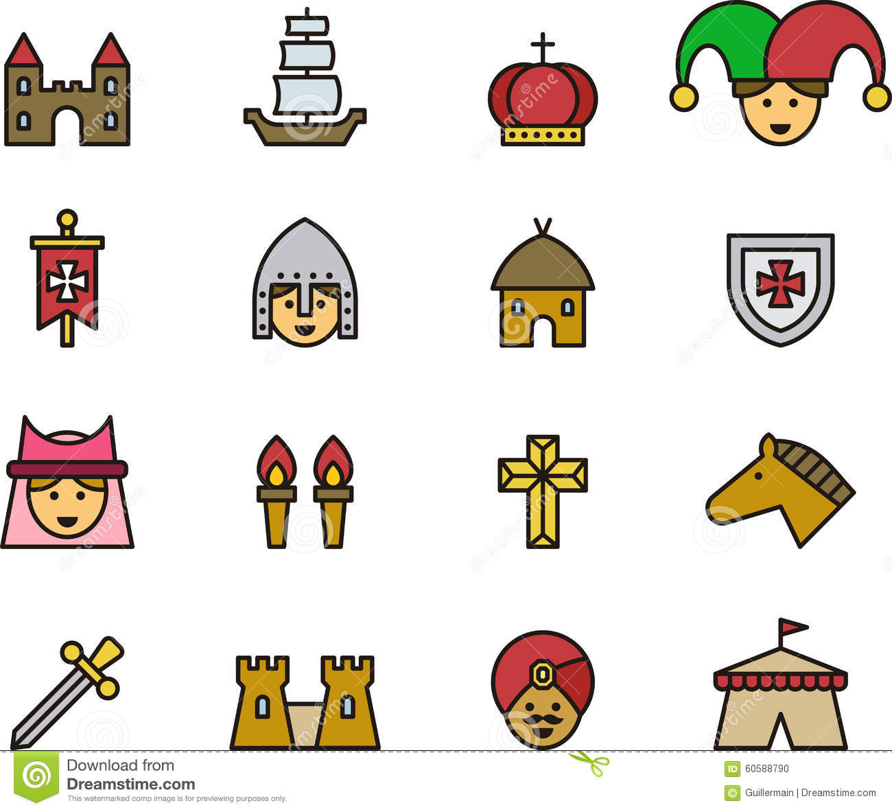 Medieval clipart medieval time Medieval Middle Ages Sheets Middle