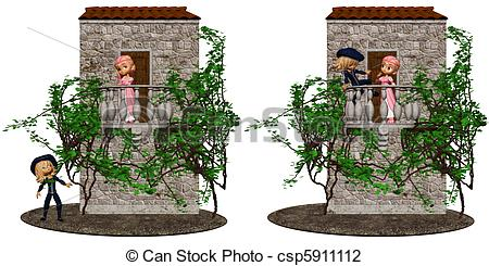 Medieval clipart romeo  EPS on isolated 128