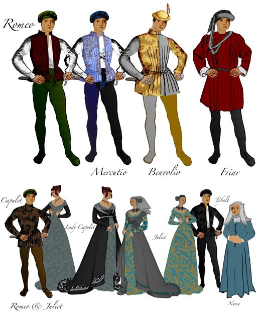 Medieval clipart romeo Romeo Juliet & Romeo Costumes