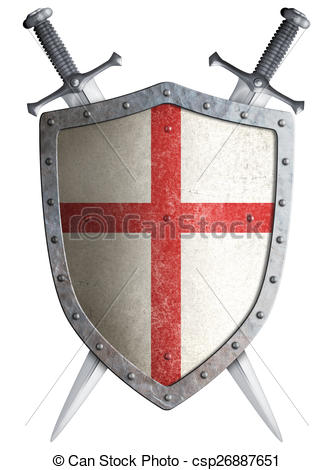 Shield clipart crusader shield And two and crusader crossed