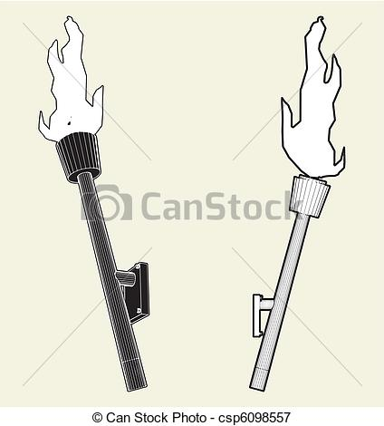 Drawn torch Free Medieval Clipart Medieval 81Kb