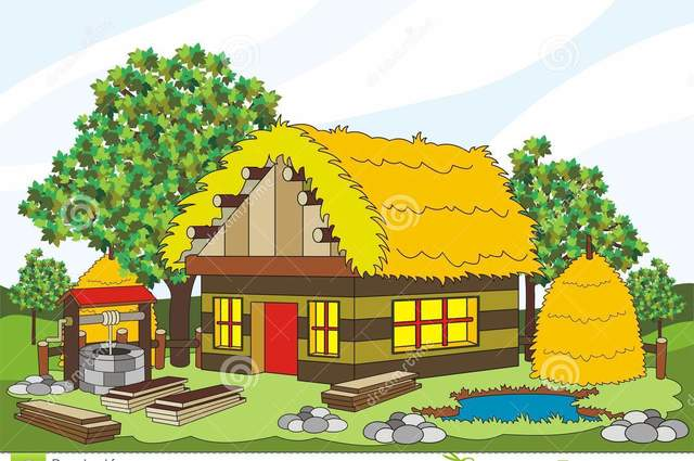 Medieval clipart villager House south House Medieval plans