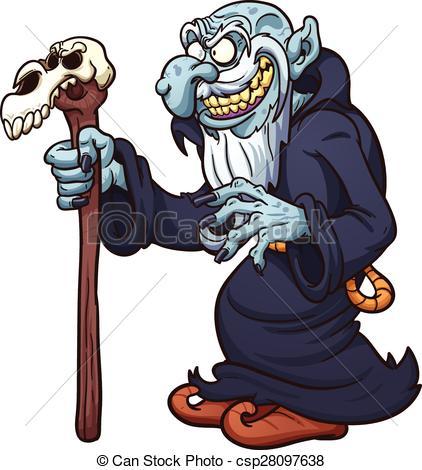 Wizard clipart medieval Wizard cartoon Vectors Evil