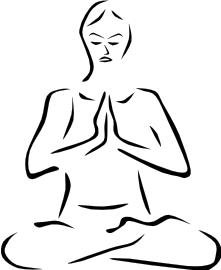 Meditation clipart Meditation Clip Gray Silhouette Meditating