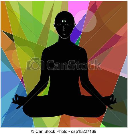 Meditation clipart abstract Clip of Vector on meditation