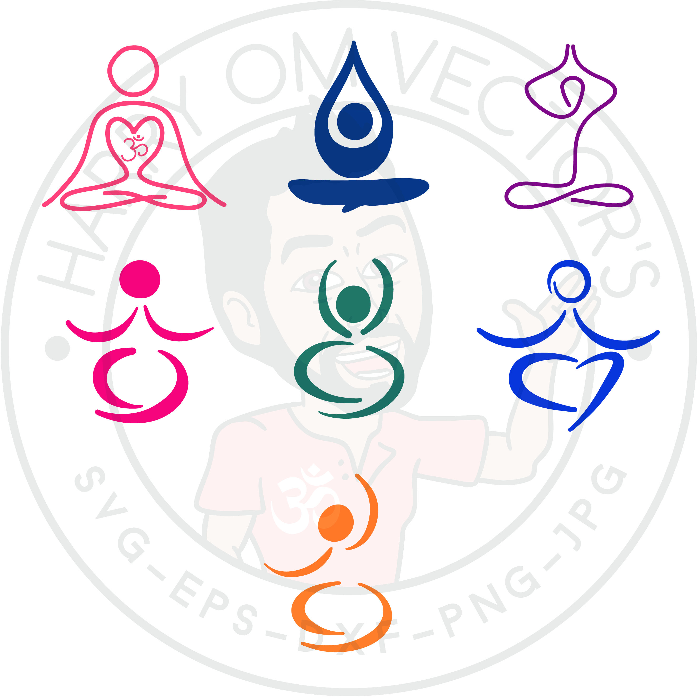 Meditation clipart abstract Cameo a Abstract  file