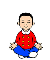 Meditation clipart boy SESSION 1  play and