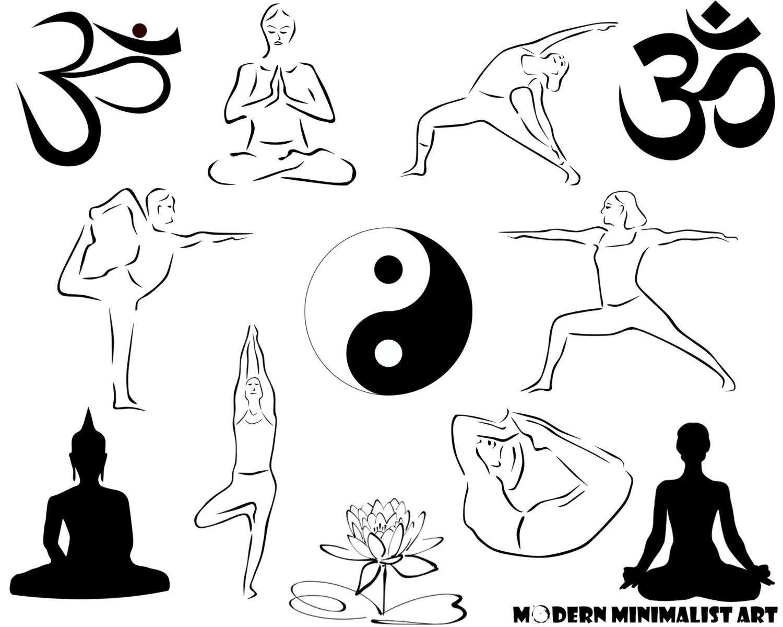 Zen clipart yoga Digital Clipart This Clipart Om