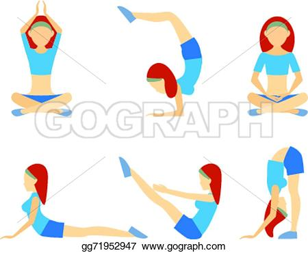 Meditation clipart get fit Six and positions push Yoga