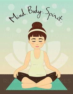 Meditation clipart good health #illustration Fitness Clip Girls Being