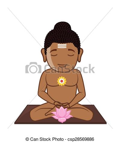 Meditation clipart hindu saint Meditation Illustration Mahavira Lord of