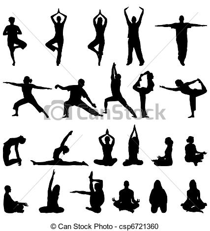 Meditation clipart icon Csp6721360 Vector silhouettes  silhouettes