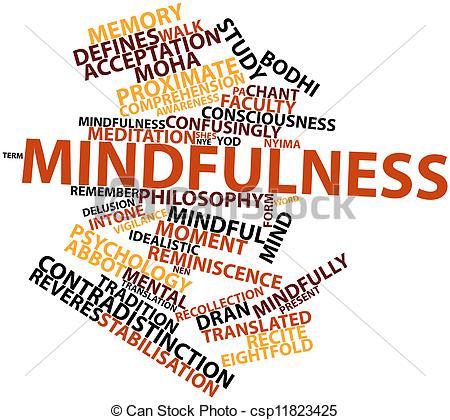 Meditation clipart mindfulness  Mindfulness Mindfulness csp11823425 Clip
