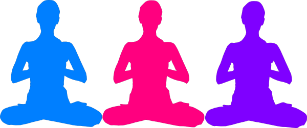 Meditation clipart mindfulness Royalty Art Meditation Free Poses