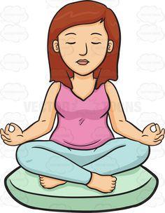 Meditation clipart physical exercise Cartoon Woman Cartoon A Clipart