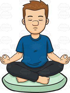 Meditation clipart physical exercise Cartoon Man Cartoon A Clipart