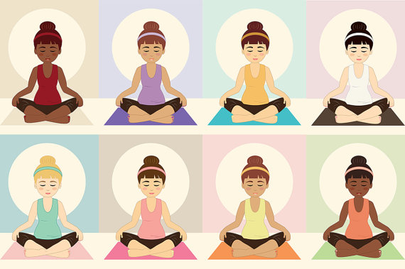 Meditation clipart physical health  Being Clip digital is