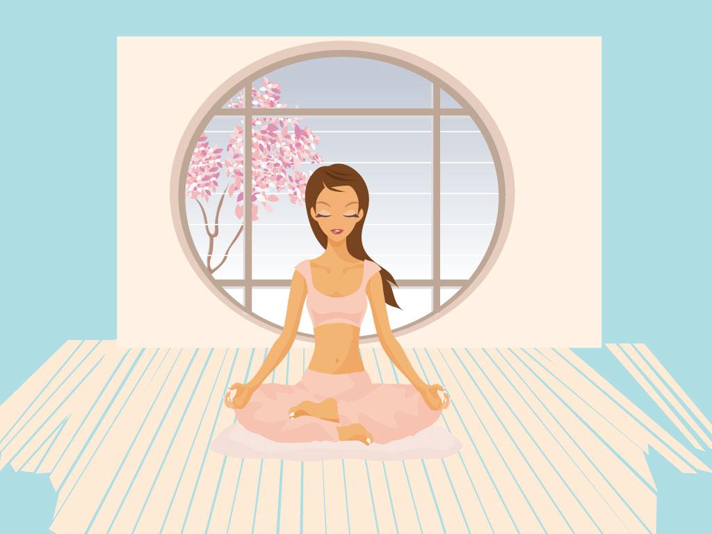 Meditation clipart physical health  cool Cartoon Yoga this