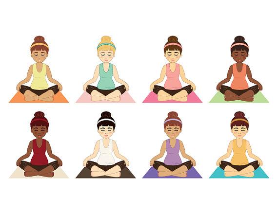 Meditation clipart physical health Personal Stock Meditation Yoga or