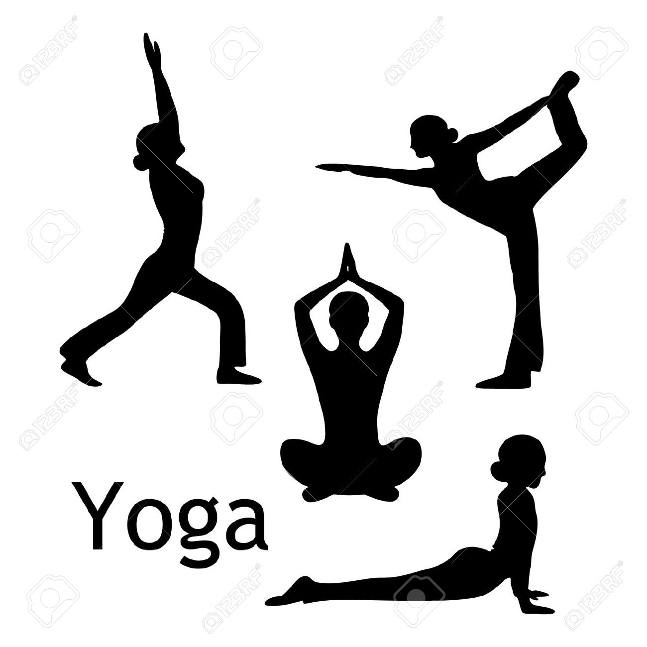 Zen clipart deep breathing Pose Draw Yoga Yoga Clipart