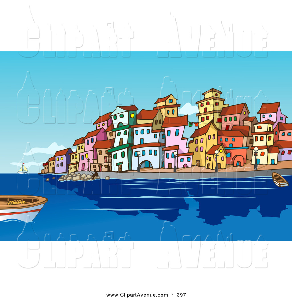 Mediterranean clipart Of  and Seaside the