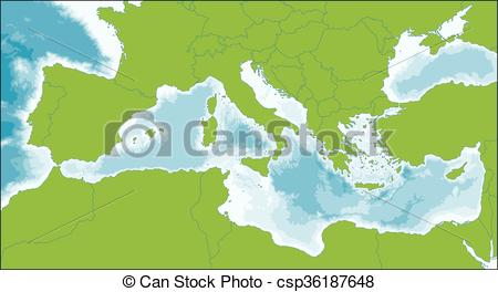 Mediterranean clipart Sea Vector is Clipart Mediterranean
