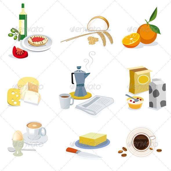 Mediterranean clipart #GraphicRiver on Mediterranean a diet