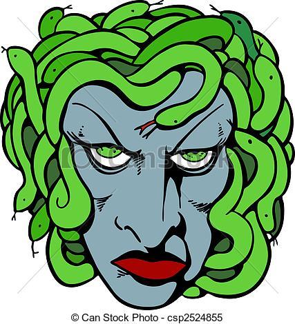 Medusa clipart Medusa head Vector of Head
