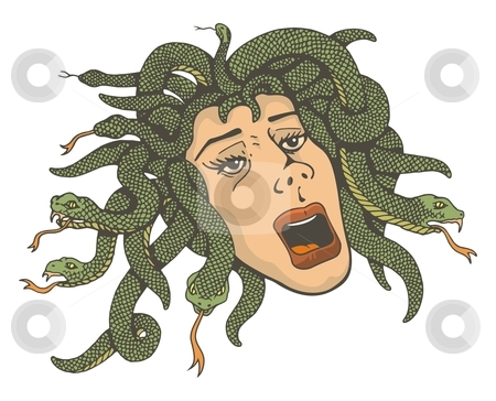 Medusa clipart Vector About head stock cliparts