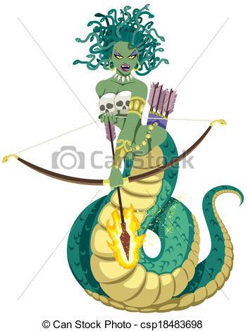 Medusa clipart EPS 000 Gorgon Medusa Images