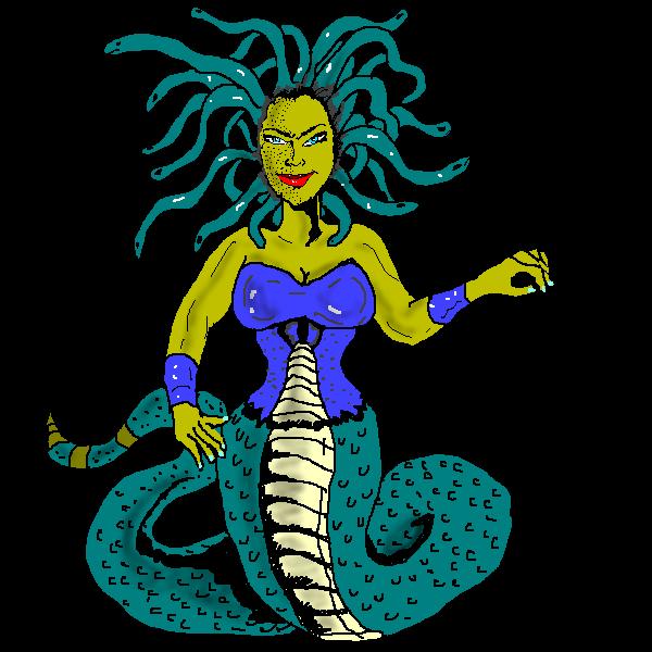 Medusa clipart Free Art Public or hairs