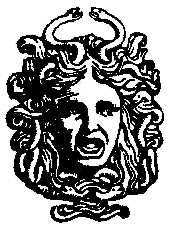 Medusa clipart black and white #5
