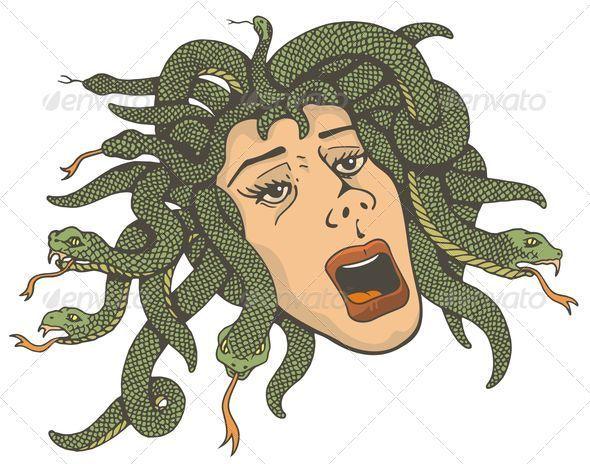Medusa clipart greek mythology #11