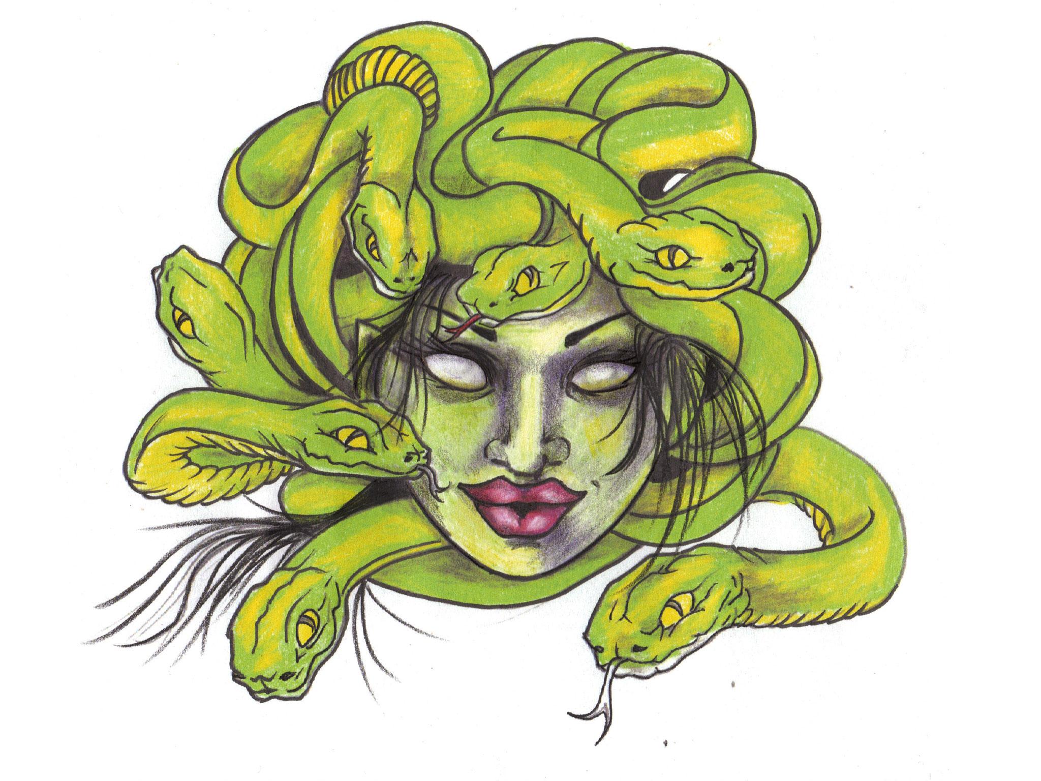 Medusa clipart greek mythology #12