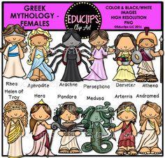 Medusa clipart greek mythology #14