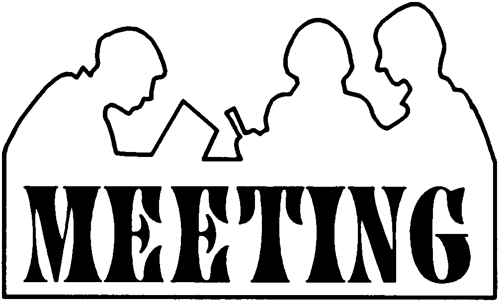 Meeting clipart black and white  Clipart clip Church Workday