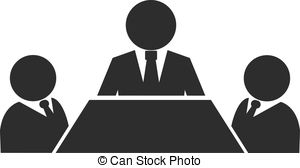 Meeting clipart black and white Images Business  EPS Vector