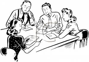 Meeting clipart black and white Attending Meeting Download Meeting Attending