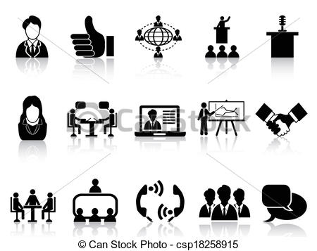 Business clipart black and white #1