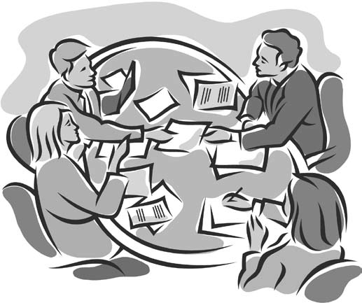 Meeting clipart black and white Free Clipartix Clipart Meeting 5