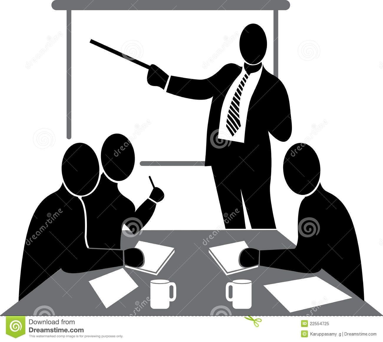 Meeting clipart black and white Black White  Class Clipart